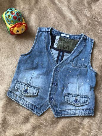 Джинсовая жилетка/жилет джинсовий