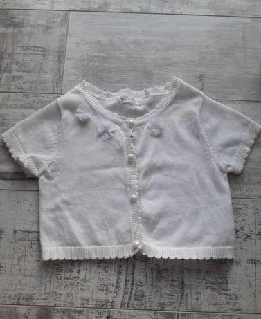Sweterek Bolerko białe z perełkami Cool Club rozmiar 116