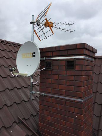 Montaż ustawienie serwis anteny satelitarnej naziemnej DVBT Kielce