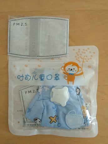 maseczka PM2,5 dla dzieci 3-12 lat z dodatkowymi filtrami