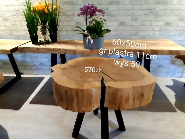Stolik kawowy,60x50cm   plaster drewna,  po suszarni