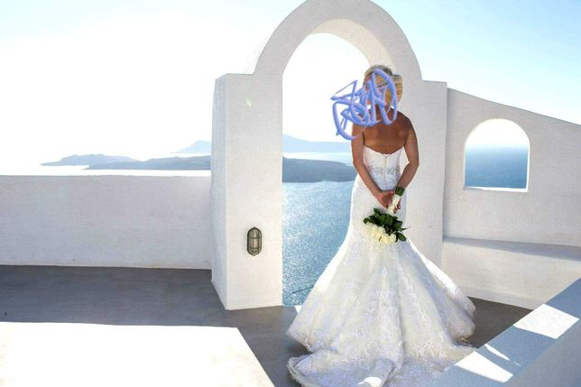 Suknia ślubna-rybka