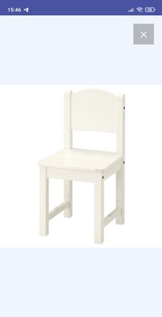 Детский стул SUNDVIK белый, ikea, икея
