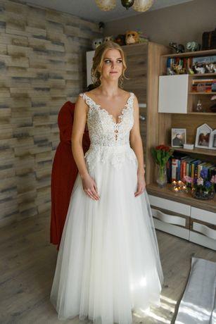 suknia ślubna r. 36-38