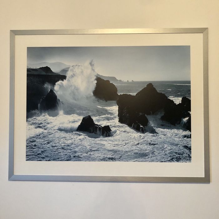 duzy obraz 120x90 morza srebrna ramka Grzybowo - image 1