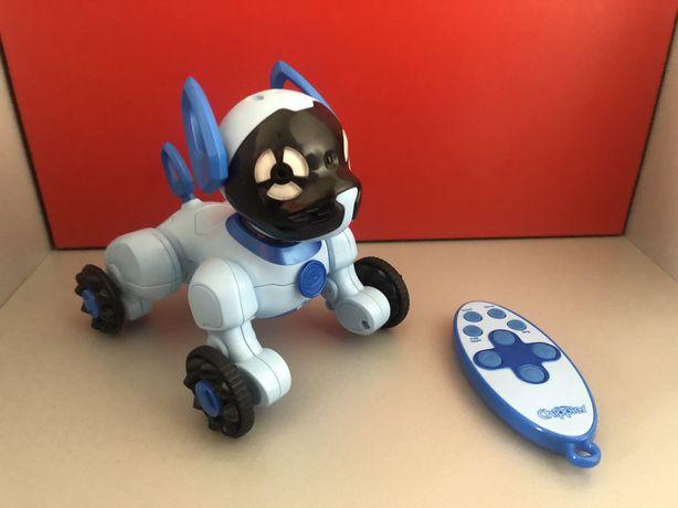 Робот щенок голубой / робот собака голубой