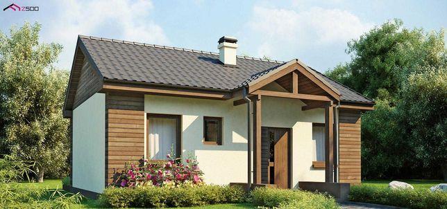 Uroczy dom jednorodzinny o pow. 51m2 na obrzeżach Bełchatowa