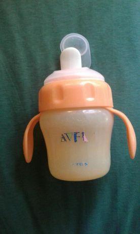 Бутылочка поильник непроливайка с мягким носиком Авент Avent