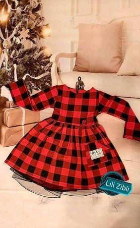 Sukienka czerwona, sesja, świąteczna 104-140