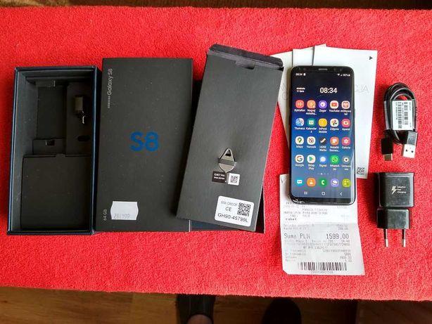 Samsung Galaxy S8, 64GB, + dow. zakupu. 05.2019r