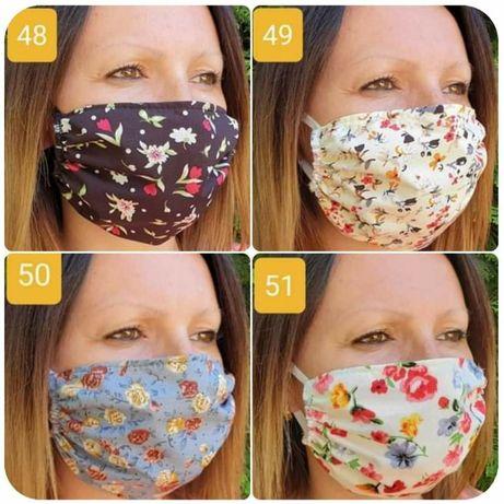 Maseczki ochronne bawełniane wielorazowe maski maseczka