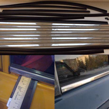 Ваз молдинги уплотнители стекла хром ваз 2101-06 комплект