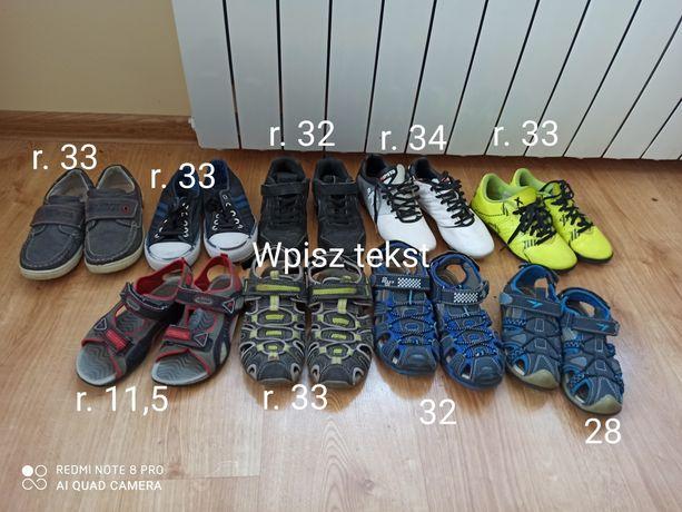 Buty, sandały, korki piłkarskie Kipsta, Geox, Nike, Adidas, Sprandi