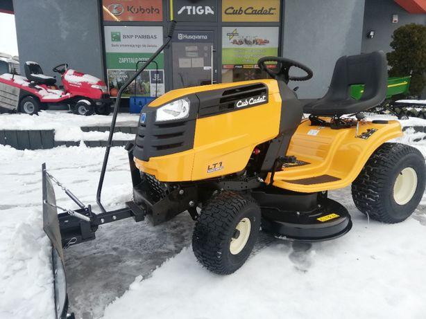Traktor ogrodowy z pługiem śnieżnym 16KM pompa oleju Cub Cadet LT1NS96