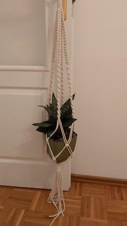 Makrama, wieszak na kwiaty, handmade