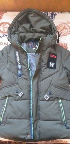 Куртка зимняя темно зеленая