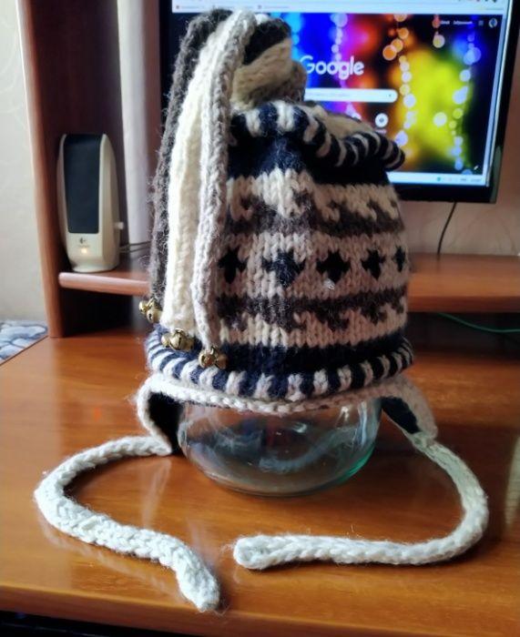 Зимняя шапка с орнаментом yeti clothing оригинал Дубровка - изображение 1