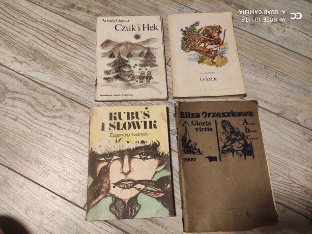 Książki: E. Orzeszkowa ABC, Kubuś i Słowik, Czuk i Hek, Lestek