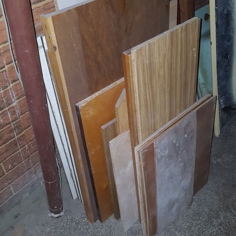 Остатки дсп доски разного размера цвета толщины