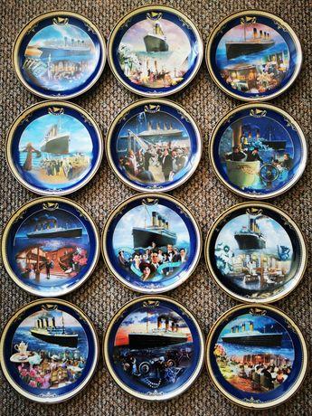 Talerze ozdobne ceramiczne Titanic 12 szt kolekcja
