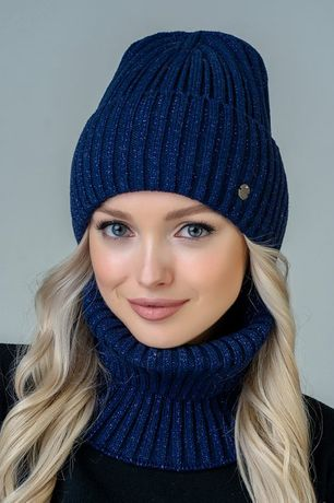 ХИТ СЕЗОНА! Женская шапка+баф, женский комплект, зимняя