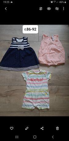 Ubranka dla dziewczynki r 92