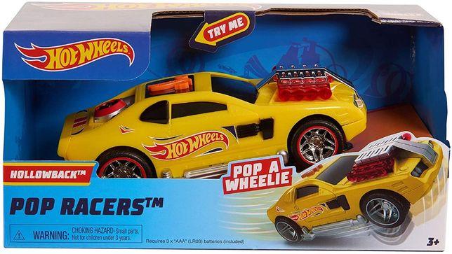 Моторизированная машинка Хот Вилс свет звук Hot Wheels Poppin Wheelie