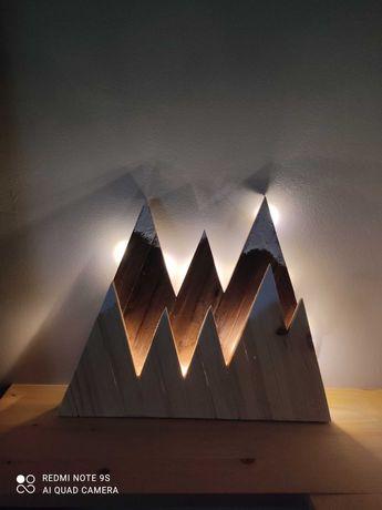 Lampka nocna*** drewno***LED*** góry