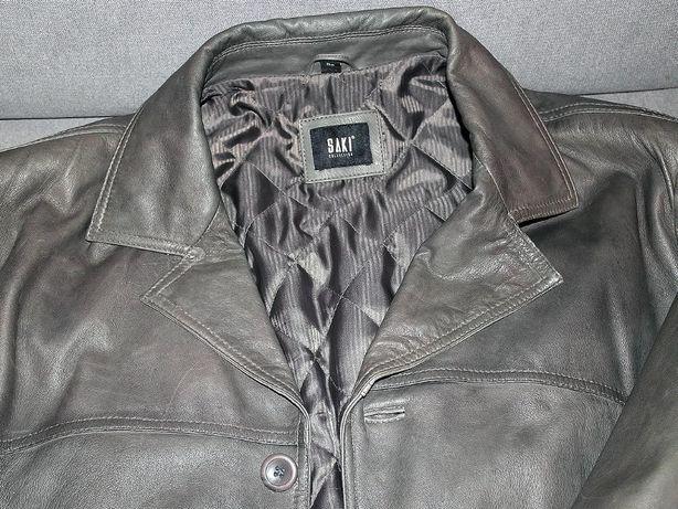 Jesienna kurtka skórzana SAKI rozmiar 62 na kawał chłopa.