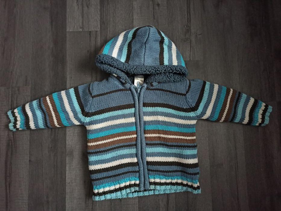 Sweter z kapturem 80 ocieplany jesień Trzebinia - image 1