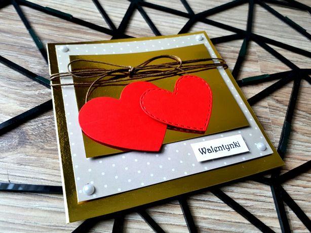 Walentynki kartka z personalizacją i kopertą w zestawie