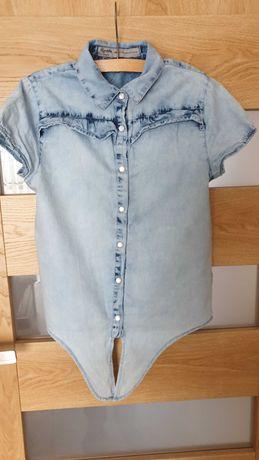 Koszula dżinsowa r. 146