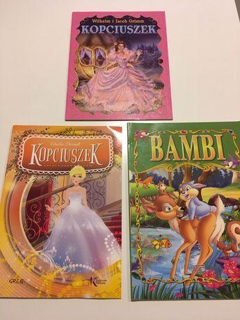 Książeczki Kopciuszek, Bambi, Kopciuszek / książki