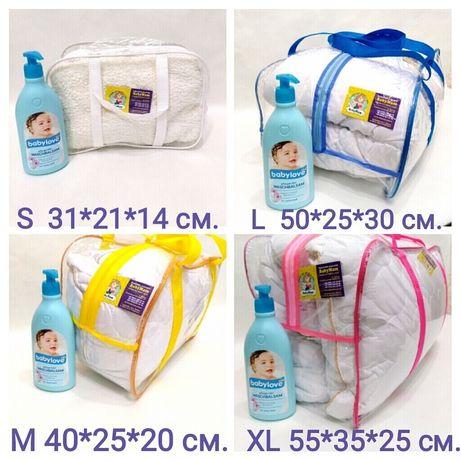 Прозорі сумки в роддом Прозрачная сумка в роддом Набор в роддом