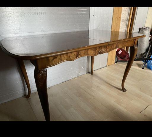stół antyk drewno rzeźbiony rozkładany