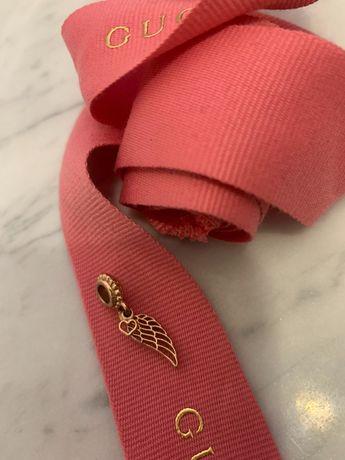 Zawieszka Pandora różowe złoto skrzydełko i serce