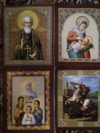 Гобелены Религия Образа Божья мать Спаситель Сергий Георгий