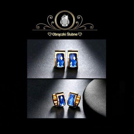 Śliczne Złote Kolczyki BLUE