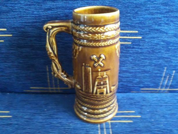 Duży ceramiczny kufel do piwa-z motywem górniczym-Piękny-Okazja!!! (1)