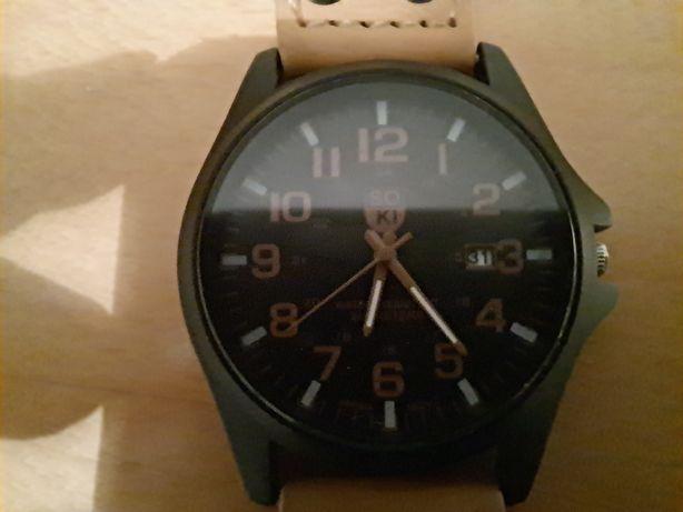 Zegarek męski czarny/ beżowy idealny SOKI