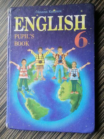 Підручник з англійської мови, 6 клас, Оксана Карпюк