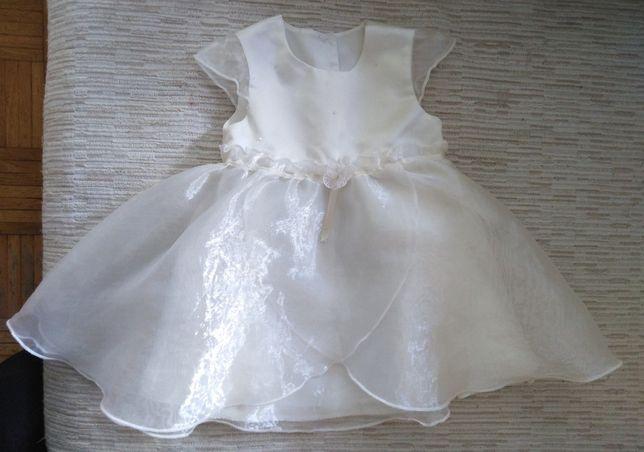 biała sukienka do chrztu r: 6-9miesiecy./O2