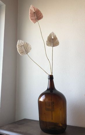 Folhas em macrame