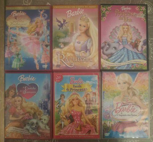 DVDs da Barbie e outros de Animação e Anime a 3€ cada