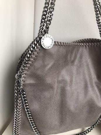 Stella McCartney falabella duża szara torebka shopper
