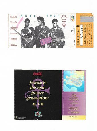 Bilhetes Prince primeiros concertos em Espanha e Portugal