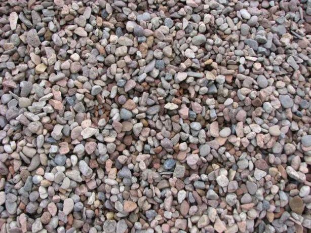 Żwir płukany (grys 2-8, 8-16) - kruszywo kamień pod kostkę