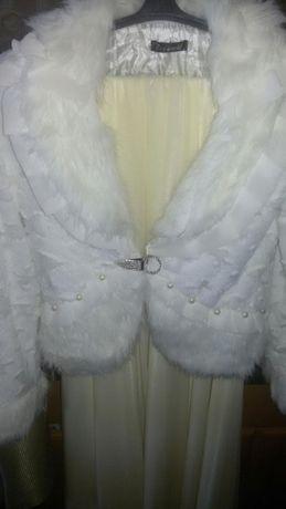 Свадебная шубка накидка белая M-Л размер 44-46