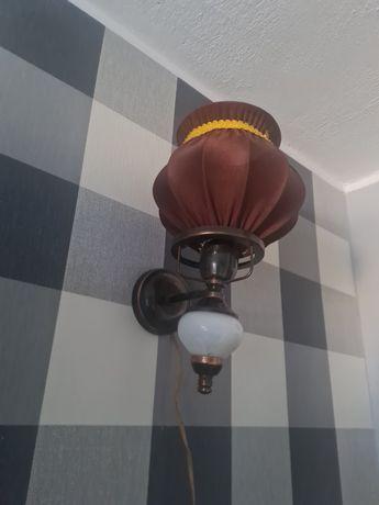 Piękna Stara Lampa kinkiet na ścianę Z czasów prl-u