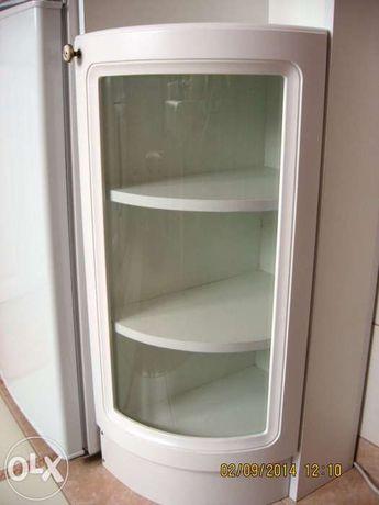 Front kuchenny półokrągły, biały, MDF szkło